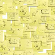 Business pattern sticky notes