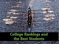 Racing boat representing college rankings