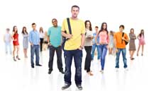 College student representing yield rate of colleges students want to go to