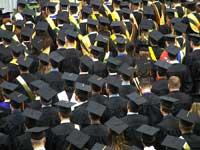 College graduates representing college graduation rates