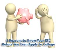 2 figures with empy piggy bank because they don't know their EFC