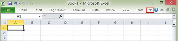 Excel with no ribbon