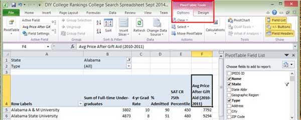 Excel Pivot Context Menu Tabs