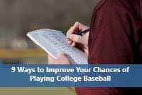 keeping score book representing one way to improve chances of playing college baseball
