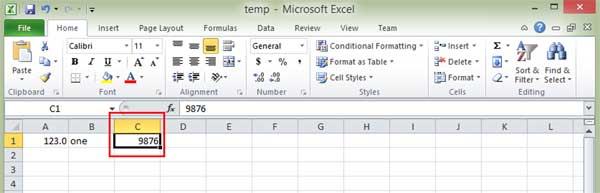 Enter data into Excel