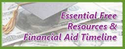 Link to free resources and financial aid timeline