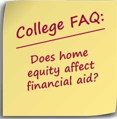 Posit note asking Does home equity affect financial aid?