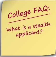 Postit note asking What is a stealth applicant?