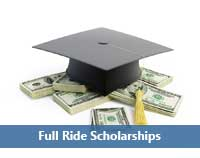 money representing full ride scholarship