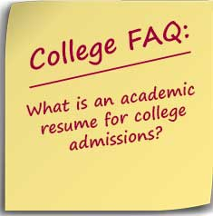 Postit: What is an academic resume for college admissions?