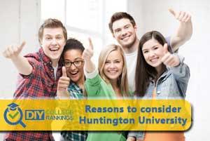 students happy about huntington university