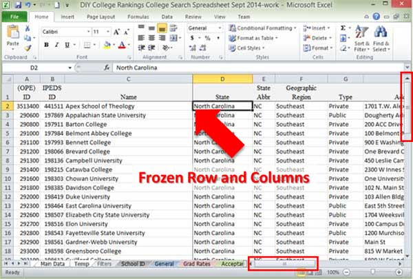 Beginning excel spreadsheet