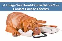 dog wondering if he should contact college coaches