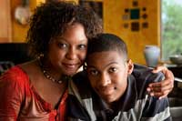 Mother and son learning about Getting Into and Paying for College